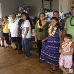 Habitat homeowners at dedication and key passing ceremony in Anahola