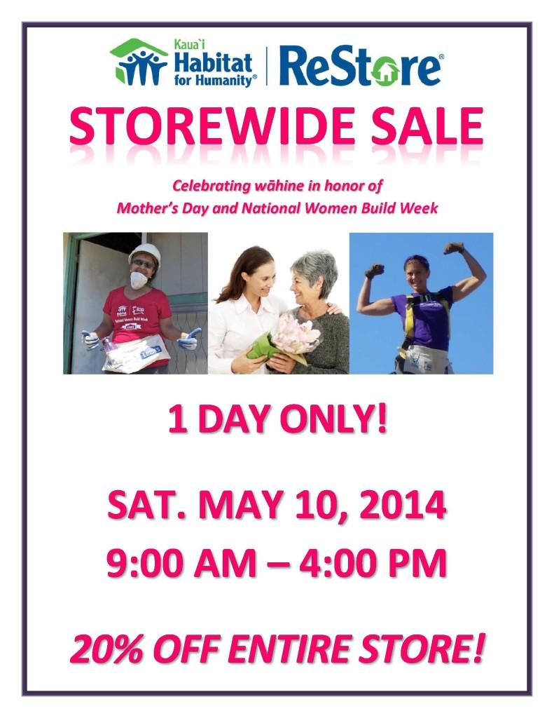 ReStore Sale 05-10-14