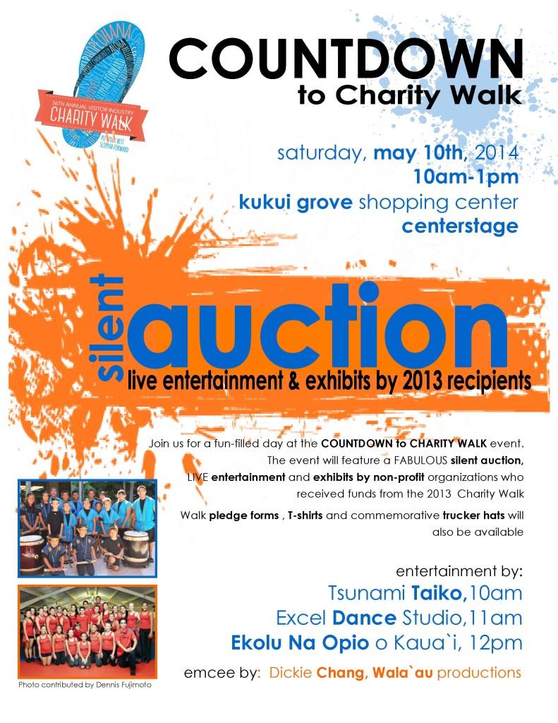 Charity Walk Countdown Flyer 2014