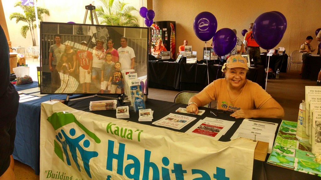 Volunteer Sandy Laverty at Charity Walk Kick 2014 Off event