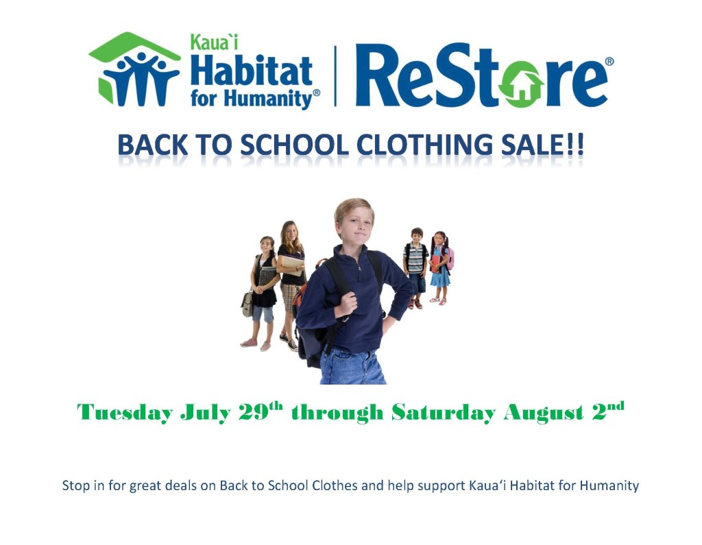 Back to School Clothing Sale