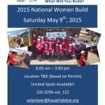 Flyer Women Build 2015