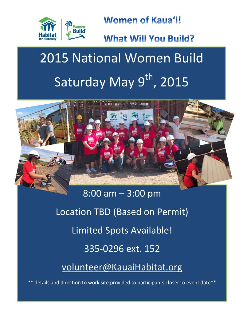 Flyer Women Build 2015