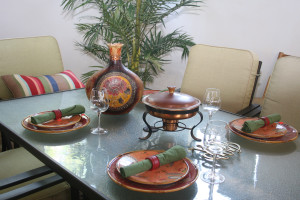 Dinnerware and table decor
